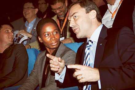 RÄDSLA? Nyamko Sabuni och Jan Björklund kritiserade Mona Sahlin på riksmötet.