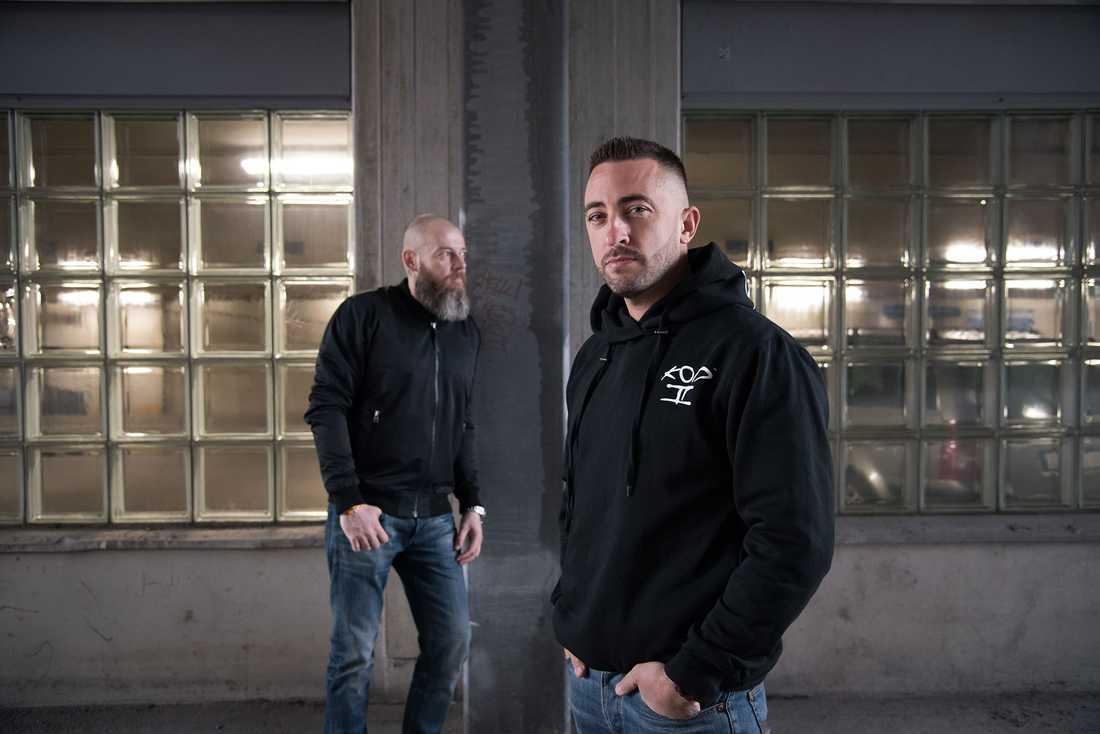"""""""Stoppa tjuven""""-profilerna Johan Viktor och Anders Adali."""