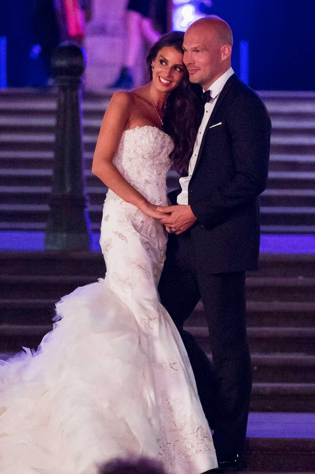 Fredrik Ljungberg och Natalie Foster gifter sig och hade sin fest på London History Museum.