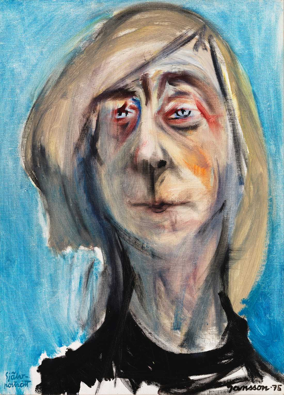 """""""Självporträtt"""" av Tove Jansson (1975). Bild: Privat samling. Finlands Nationalgalleri/Yehia Eweis © Tove Janssons dödsbo"""