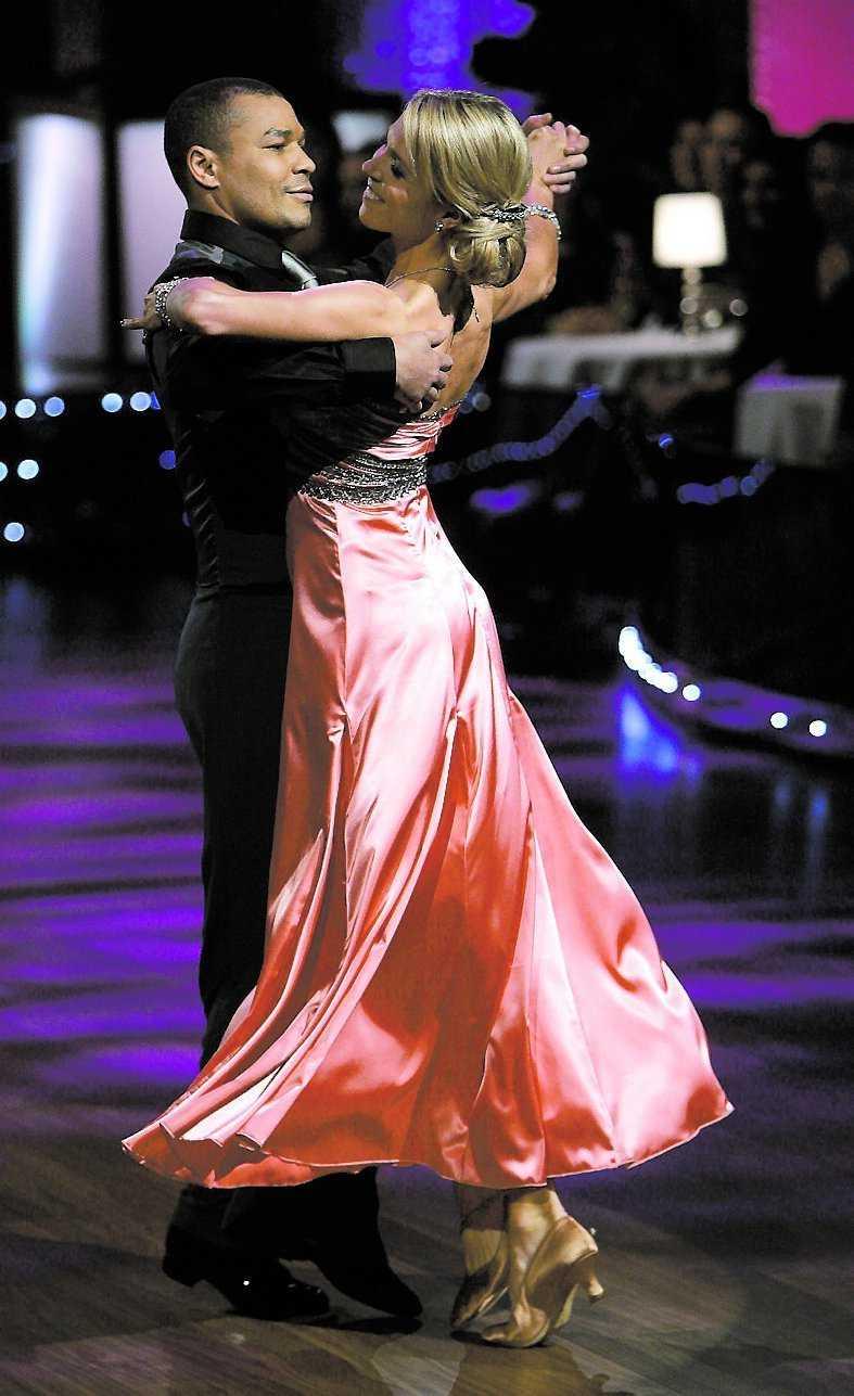 George Scott och Maria Karlsson på dansgolvet.
