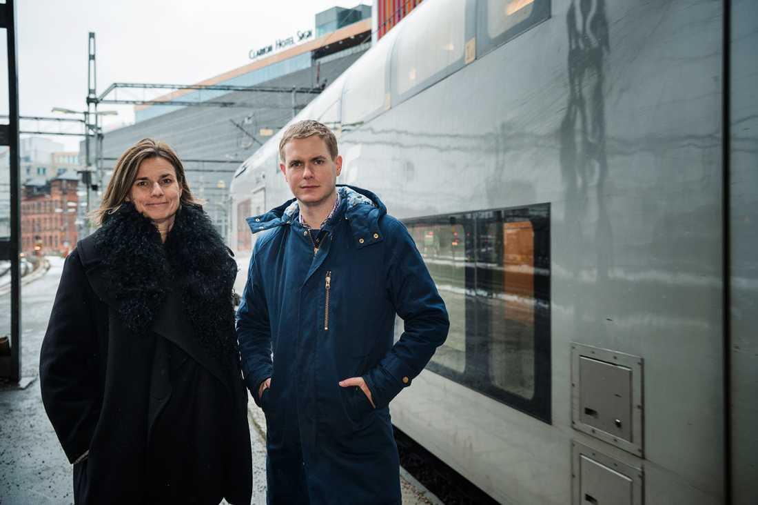 Isabella Lövin och Gustaf Fridolin.
