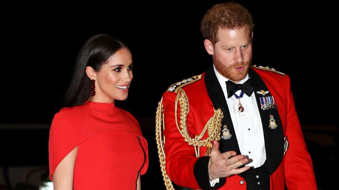 Prinsparet Meghan och Harry. Bild från en musikfestival på Royal Albert Hall i London häromdagen.