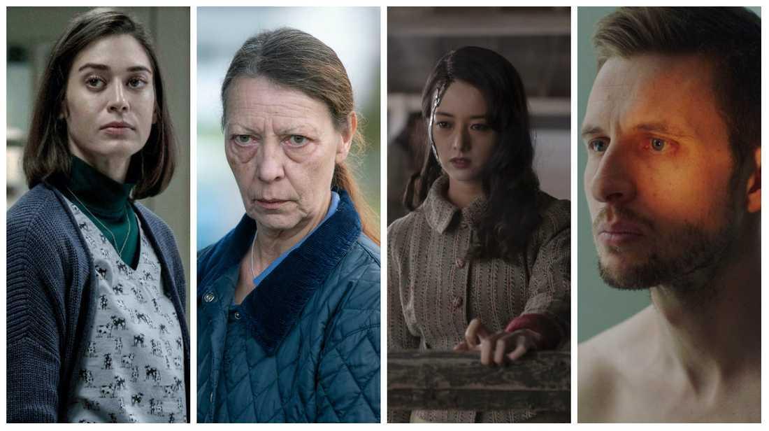 """""""Castle Rock"""", """"Marianne"""", """"The terror: Infamy"""" och """"Besatt""""."""