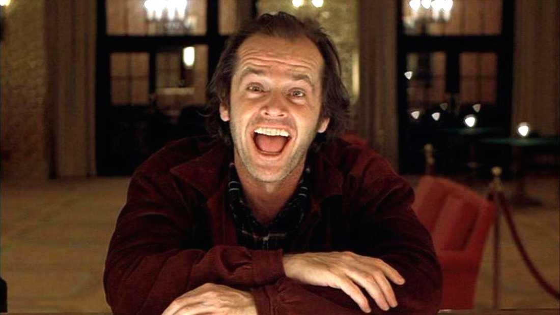"""Jack Nicholson i """"The shining"""" (1980)."""