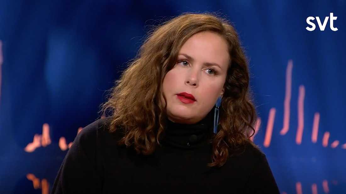 "Radioprofilen Hanna Hellquist i ""Skavlan""."