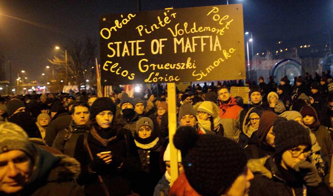 Protesterna mot Viktor Orbàns regering började den 12 december i Budapest.