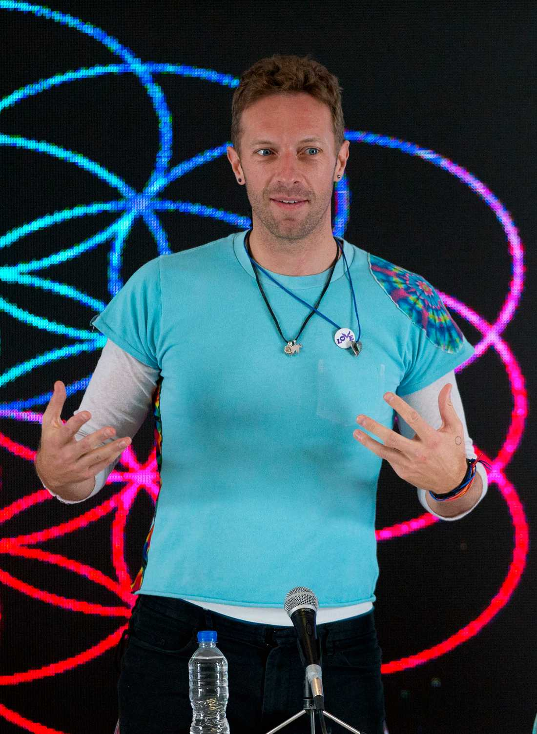 Chris Martin, sångare i Coldplay.