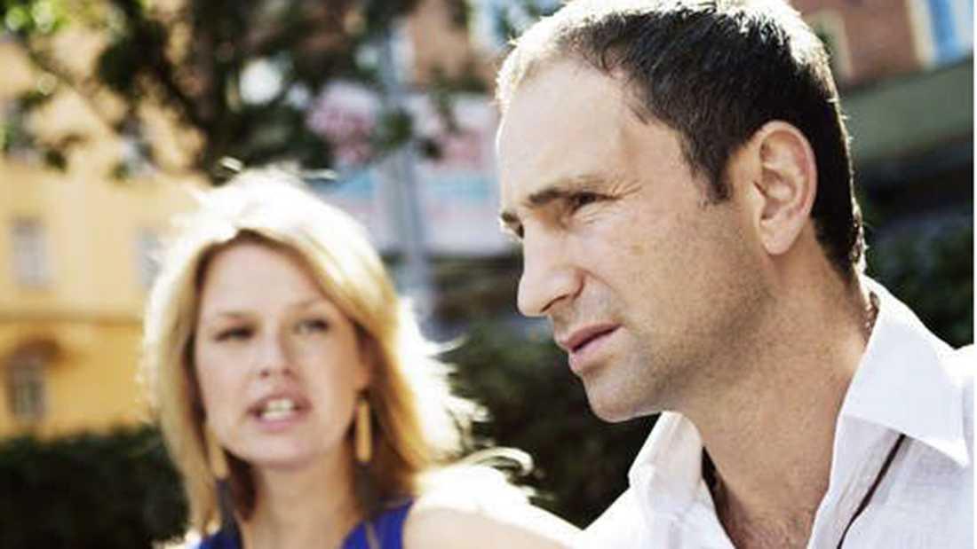 Paolo Roberto och exfrun Lena Arrelöv.
