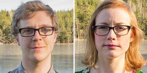 Mårten Espmarker och Elin Hylander, Gröna studenter.