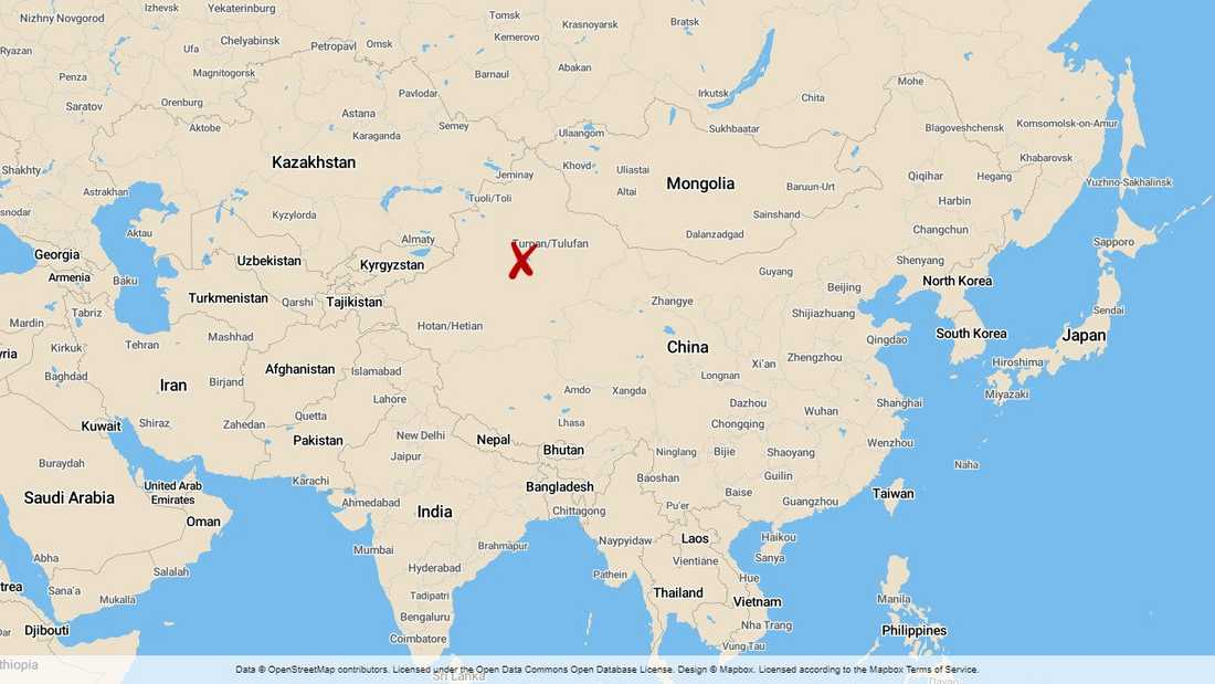 Xinjiang i Kina.