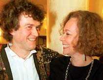 lyckligt par Maria Leissner med sin sambo Hans Holmgren som omkom i en bilolycka 1996.