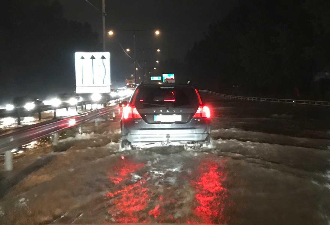 Översvämning i Kållered.