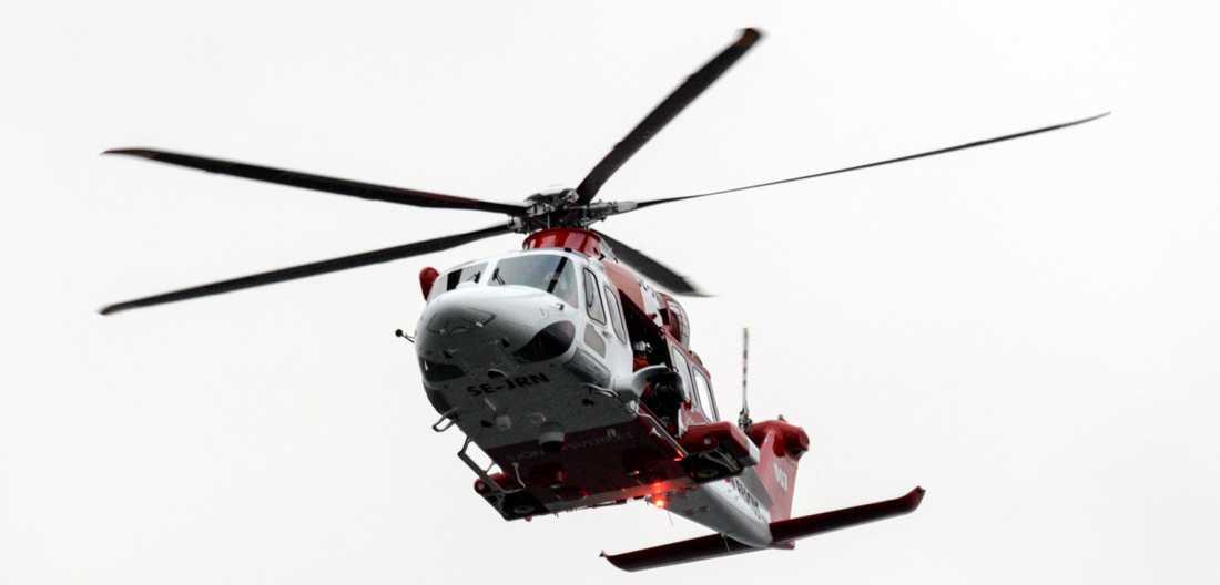 Sjöfartsverkets räddningshelikopter Lifeguard 007 (AW 139 SE-JRN). Arkivbild.