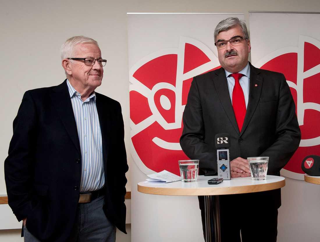 Lars Engqvist och Håkan Juholt.