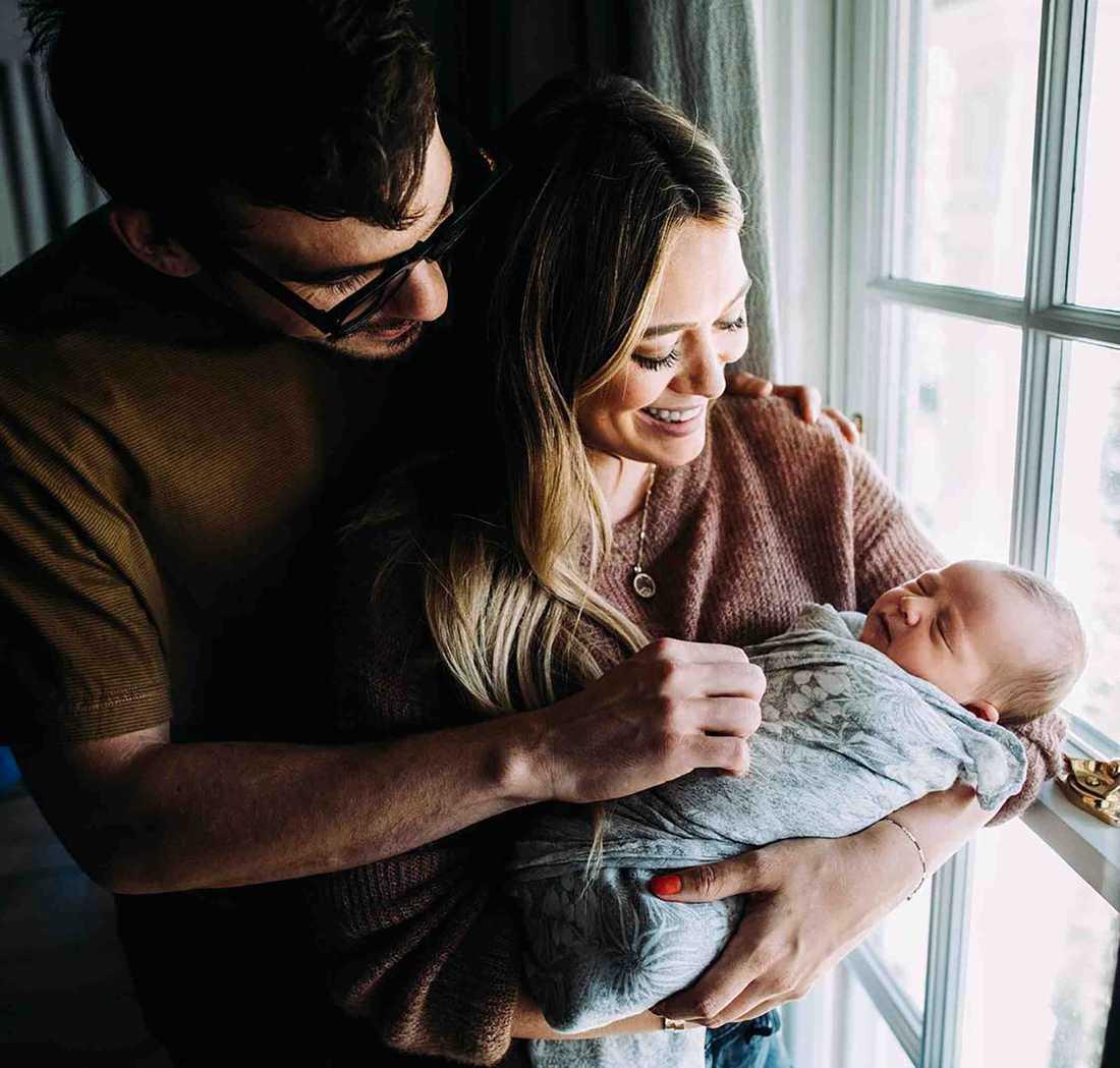 Hilary Duff med sin familj.