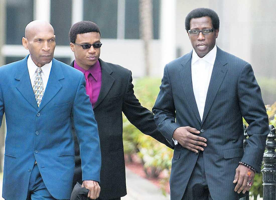 Wesley Snipes dömdes till fängelse.