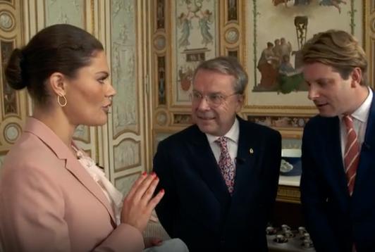 """Kronprinsessan Victoria i """"Antikrundan""""."""