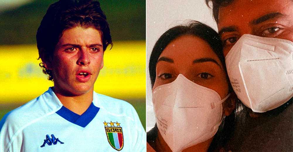 Diego Maradona Junior 2001, i det italienska U16-landslaget.