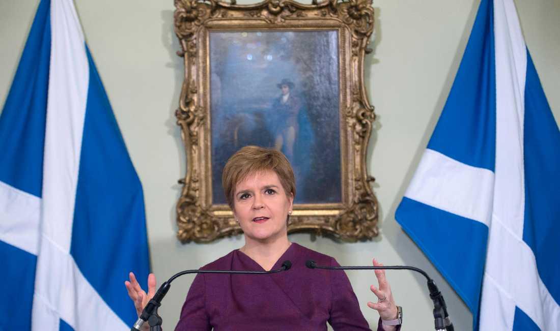 I dag frågas Skottlands förstaminister Nicola Sturgeon ut gällande sexbrottsanklagelserna mot den tidigare ledaren och partikamraten Alex Salmond. Arkivbild.