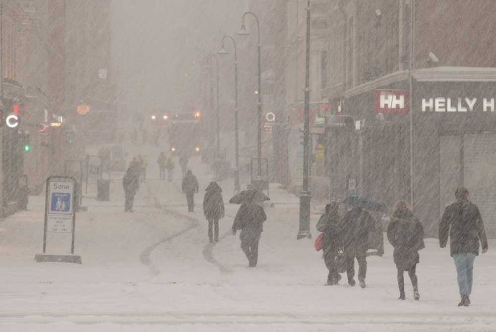 Ordentligt med vinter i Oslo.