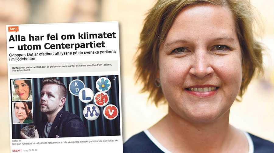 Centern måste utgå ifrån verkligheten, inte hur de önskar att världen ska se ut, skriver Karin Karlsbro.