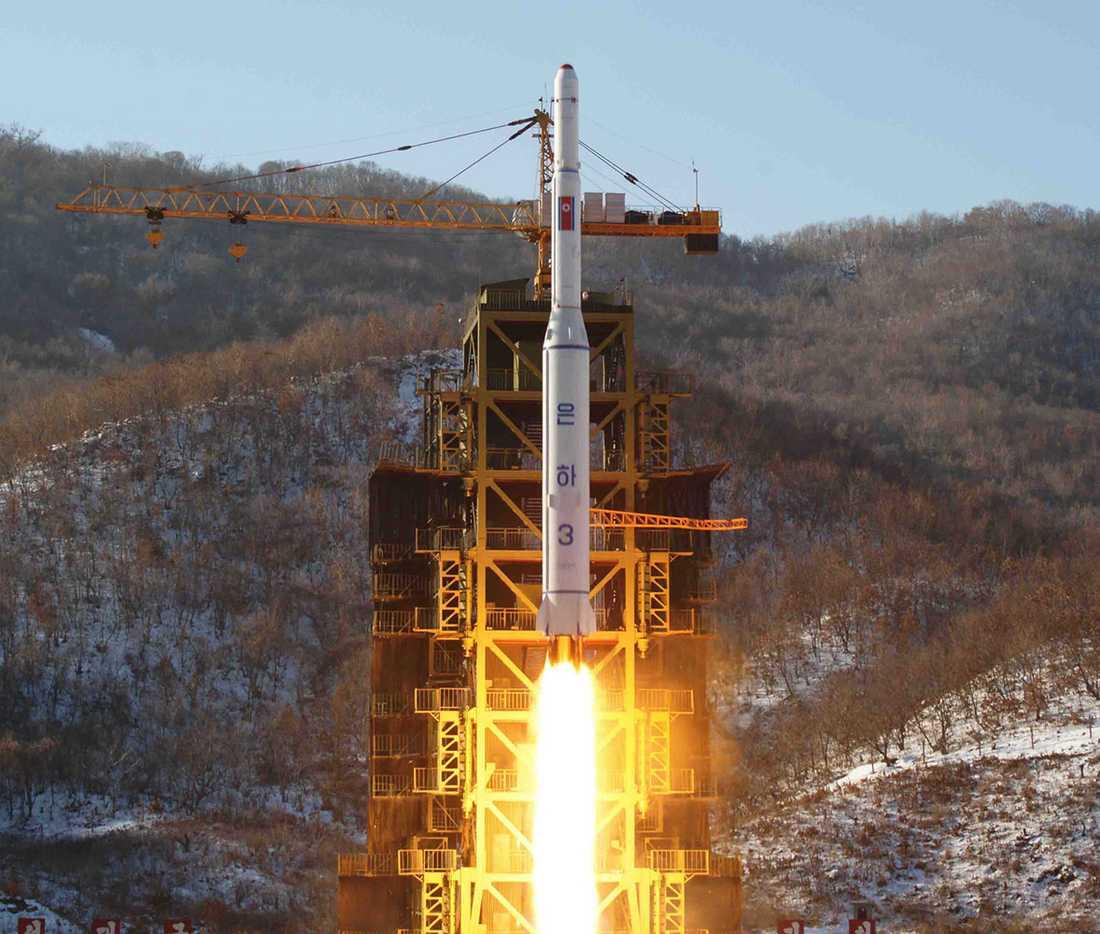 En nordkoreansk Unha 3-raket.