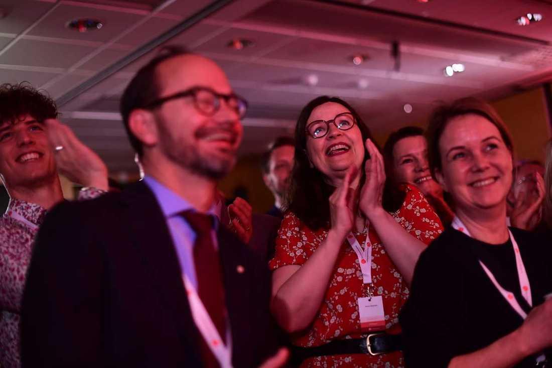 Socialdemokraternas valvaka.