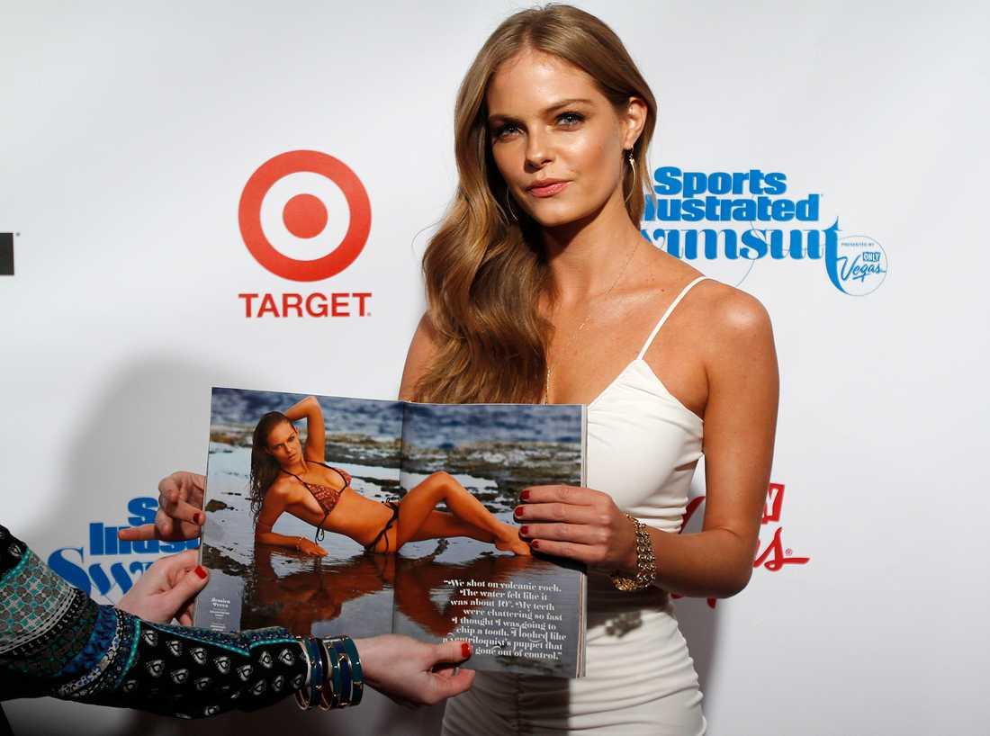 Modellen Jessica Perez Gjorde sin fotosession i Chile. Foto: AP