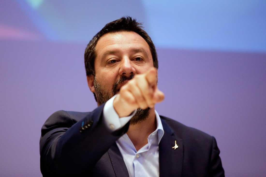 Matteo Salvini, ledare för italienska Lega och inrikesminister.