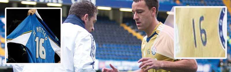 Di Matteos gamla tröjnummer i Chelsea var 16. Och på träningen innan helgens premiärmatch för Benitez visade Terry sitt stöd med att byta till tröjnummer 16.