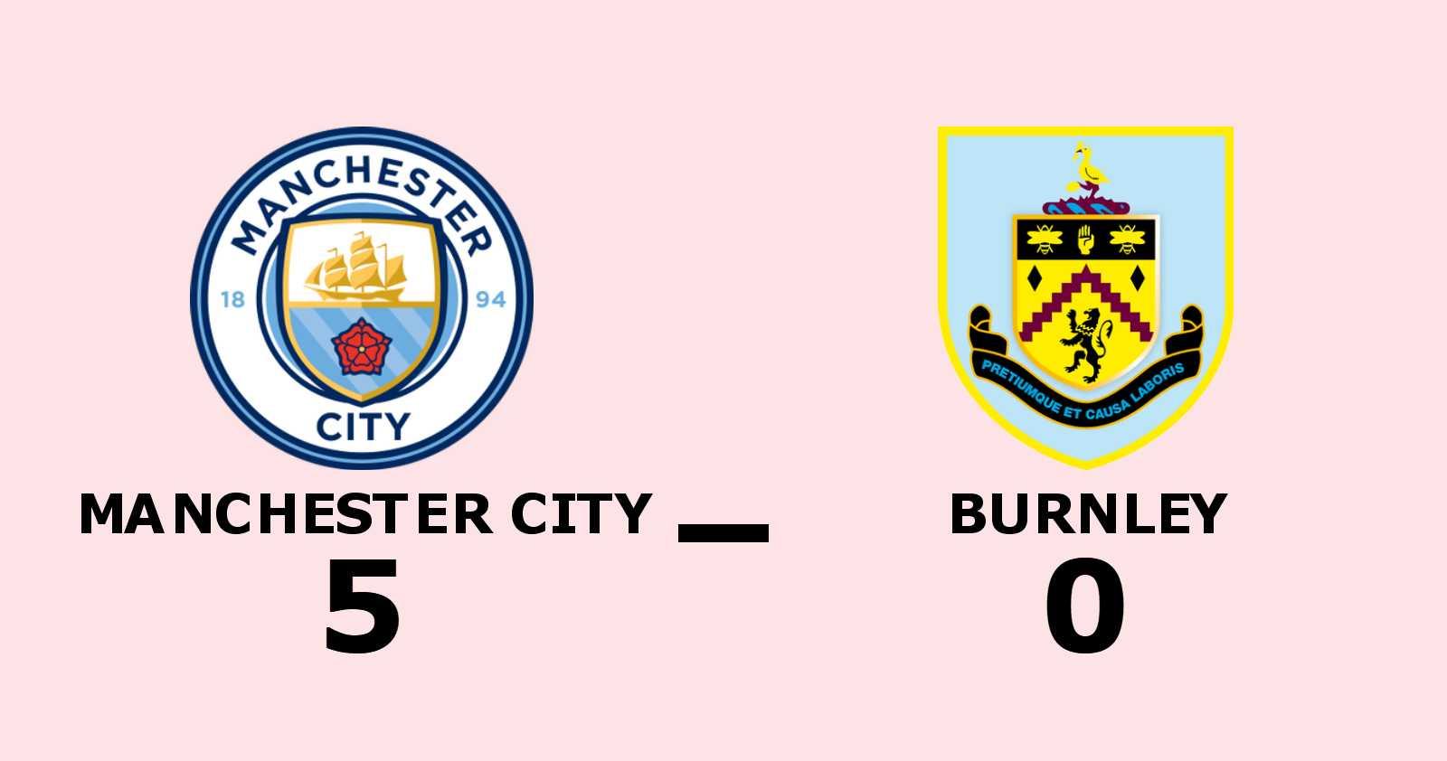 Storseger för Manchester City hemma mot Burnley