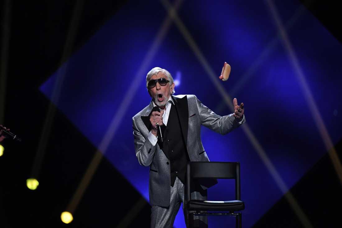 Owe Thörnqvist i Melodifestivalen 2017.