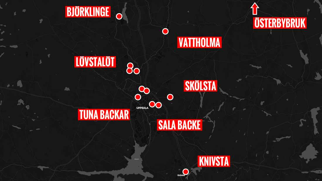 På bara tre dagar begicks 13 inbrott i och runt Uppsala.