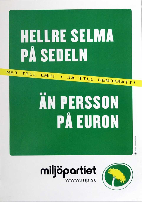 2003 Miljöpartiet inför EMU–valet