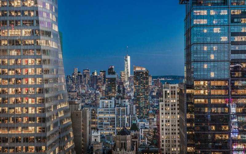 Utsikt från det fyrstjärniga hotellet Hyatt Times Square på Manhattan