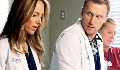 """LEVER I EN DRÖMVÄRLD Kim Raver och Kevin McKidd i """"Greys Anatomy"""" I verkligheten är bara 19 procent av kirurgerna kvinnor."""