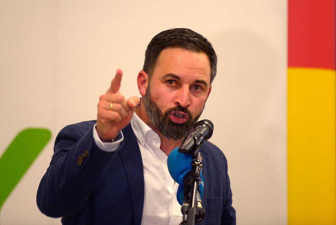 Santiago Abascal, ledare för det högerextrema partiet Vox.