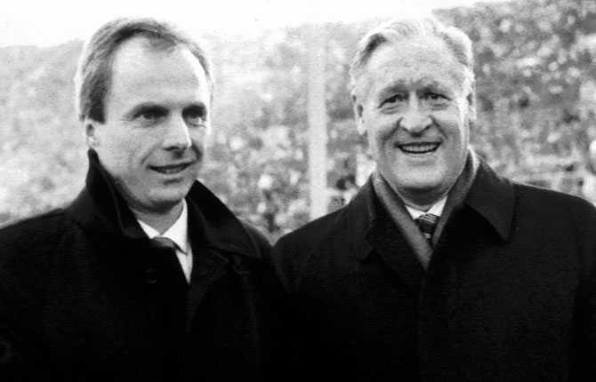 1984 styrde Svennis kosan mot Italien. Hans första klubb i Serie A blev Roma, där han fick förmånen att träffa legendaren Nils Liedholm.