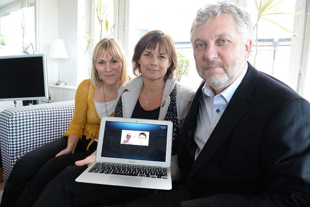 Linnéa Engström, Isabella Lövin och Peter Eriksson.