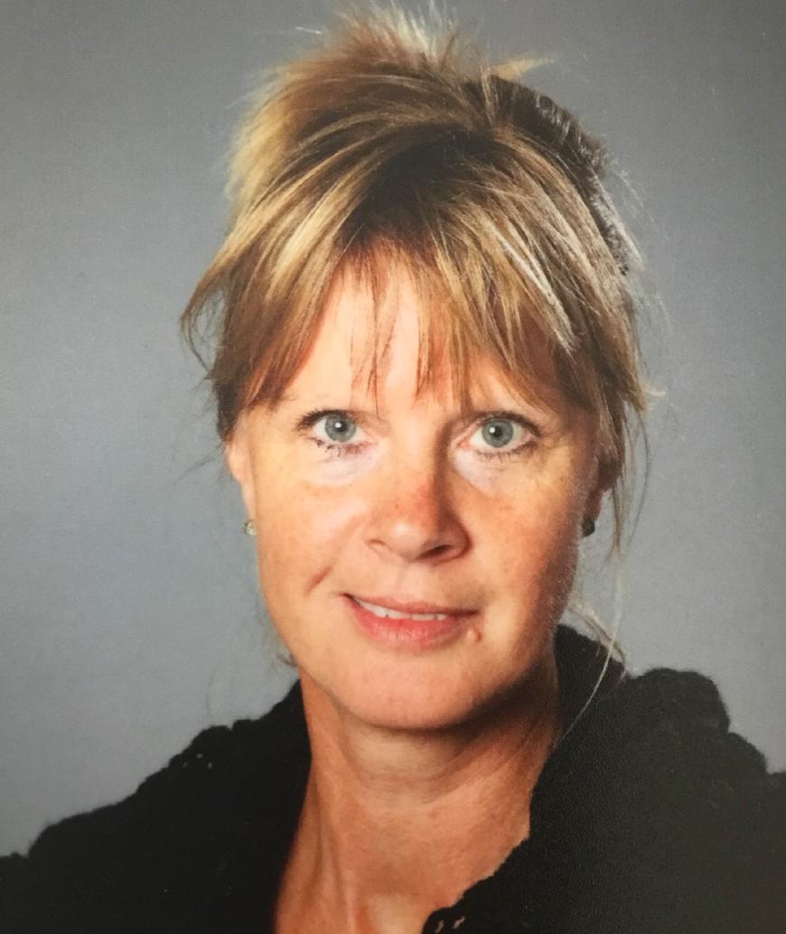 Läraren Marie Grungner på Fårösundsskolan.