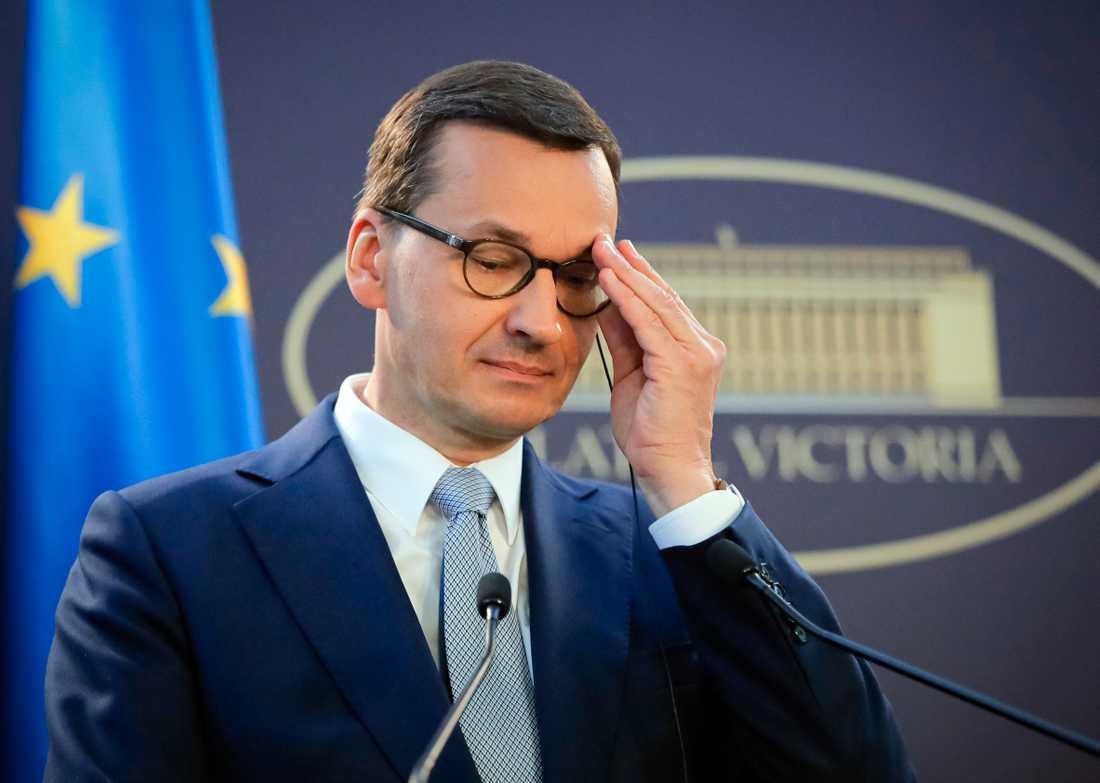 Polens premiärminister Mateusz Morawiecki. Arkivbild.