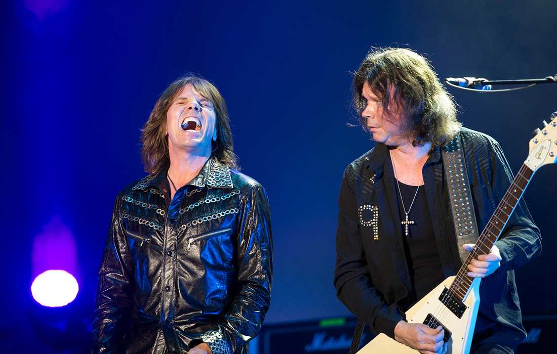 Joey Tempest och John Norum var glada även på Sweden Rock förra året.