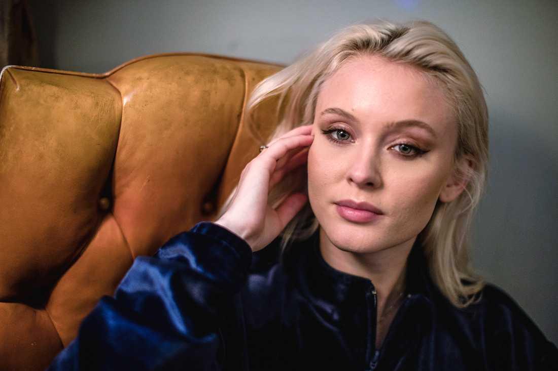 "Zara Larsson avslutar TV4:s ""Late night concert""-serie. Arkivbild."