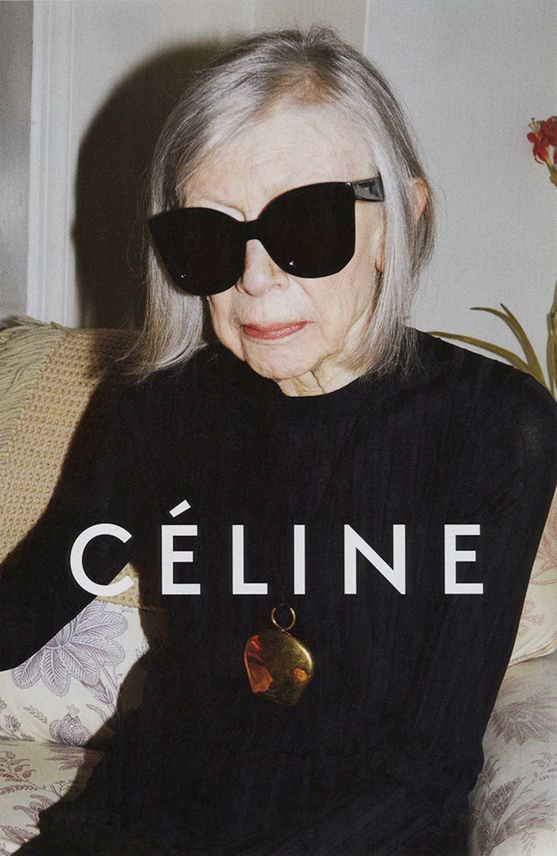 80-åriga författaren Joan Didion frontar fräna klädmärket Celines vårkampanj.