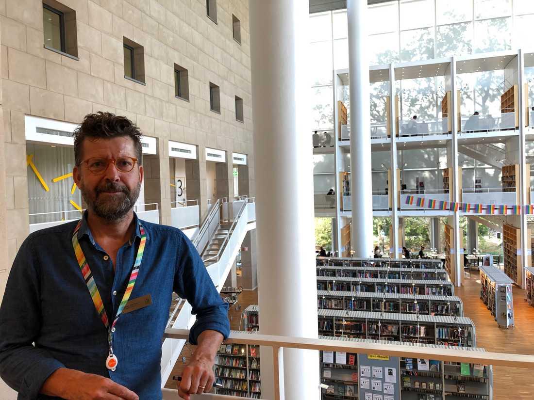 Stefan Wahlstedt, biträdande stadsbibliotekarie.
