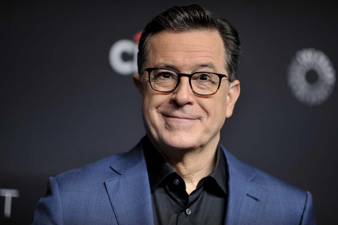 Stephen Colberts pratshow stoppas. Arkivbild.