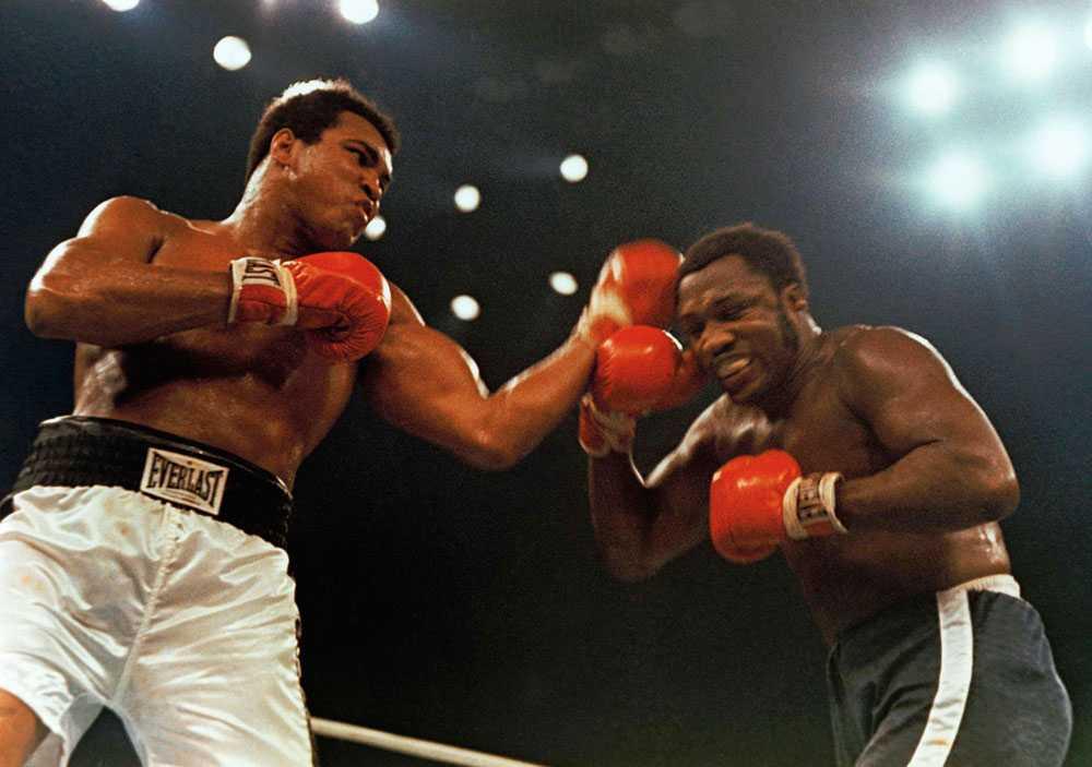 Ali fick sin revansch på Frazier 1974, också i Madison Square Garden, New York. Men den här gången gällde matchen inte lika mycket. Joe Frazier hade förlorat titeln mot George Foreman tidigare. Ali besegrade Frazier men knockade honom inte.