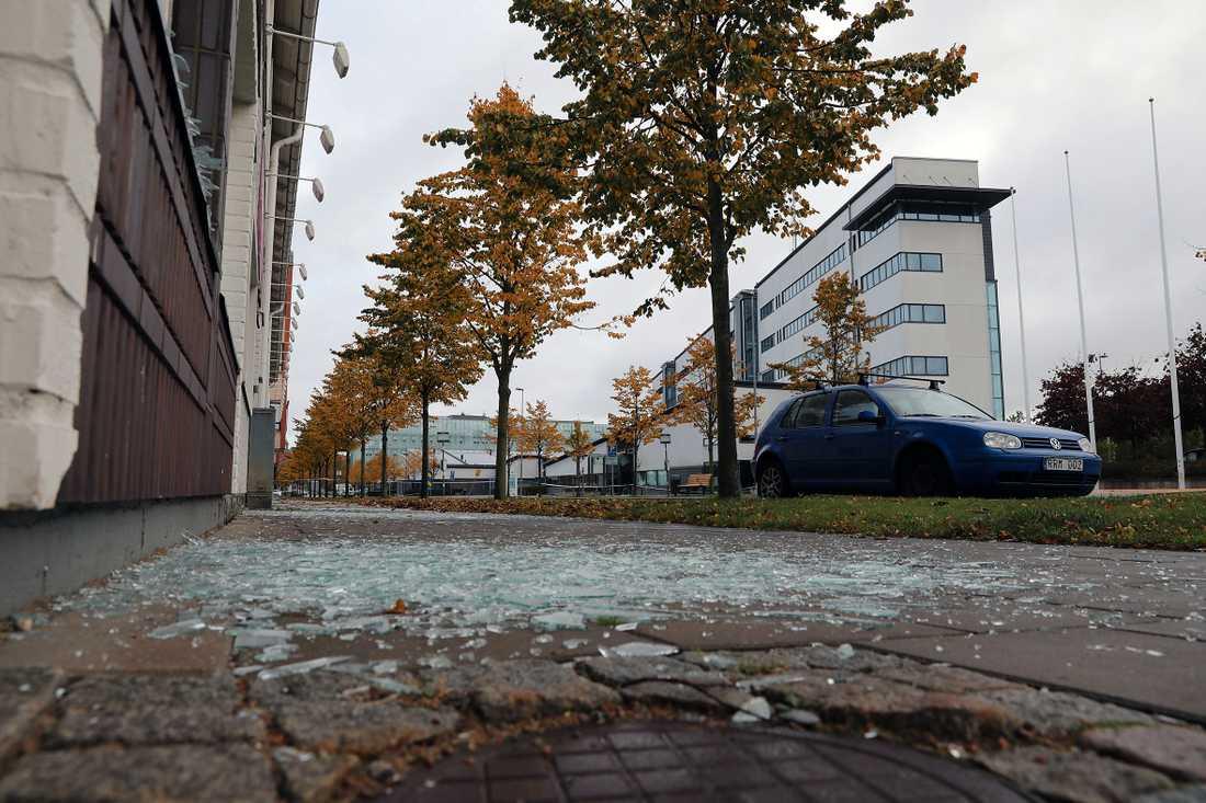 Polishuset i Helsingborg på onsdagsmorgonen.