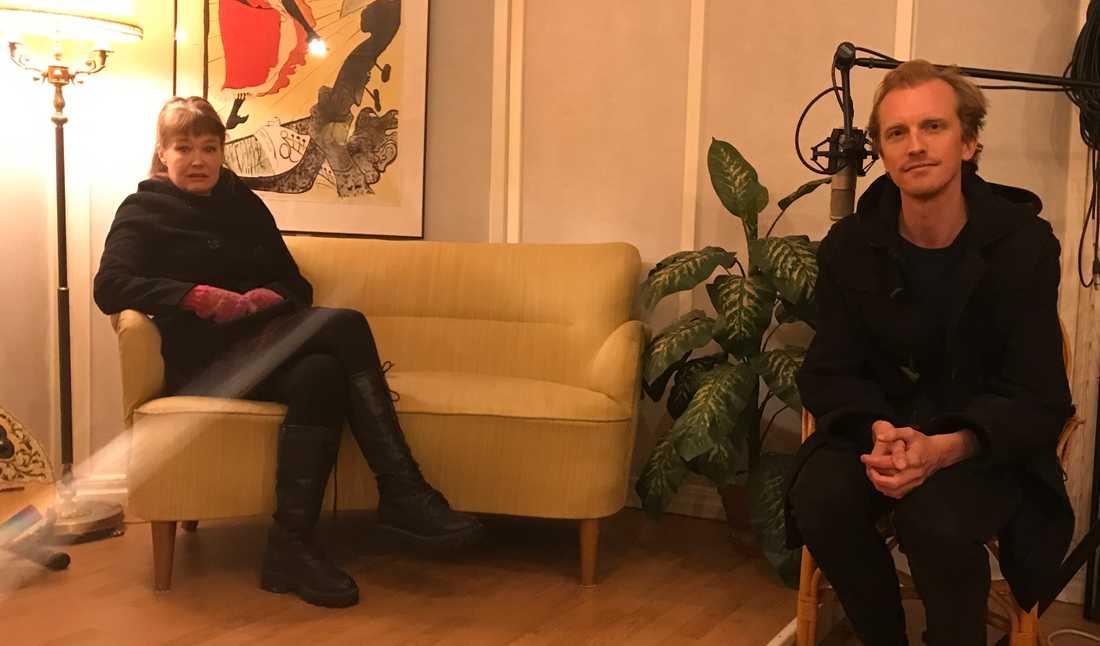Nina Björk och Ola Söderholm.